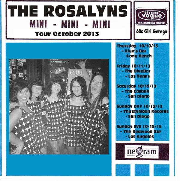 Amy Gore + The Rosalyns October West Coast Dates!