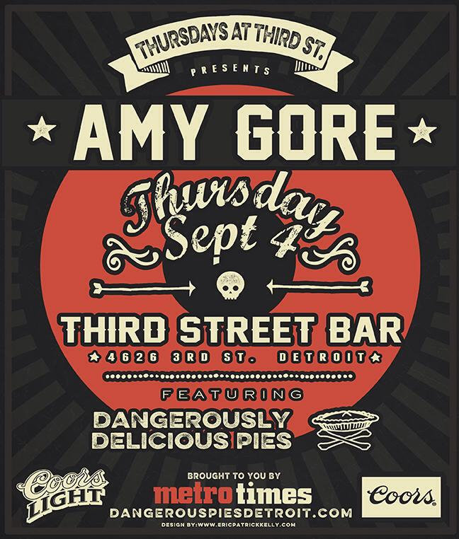 Amy Gore @ Third St., Thursday, September 4th!